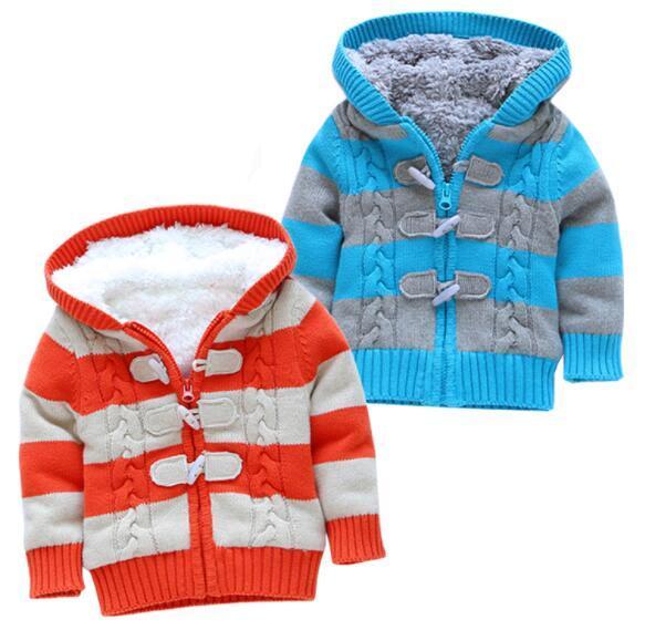 Free shipping nouveaux chandails garçon bébé automne hiver détail bébé vêtements enfants vêtements de plein air filles bande cardigan