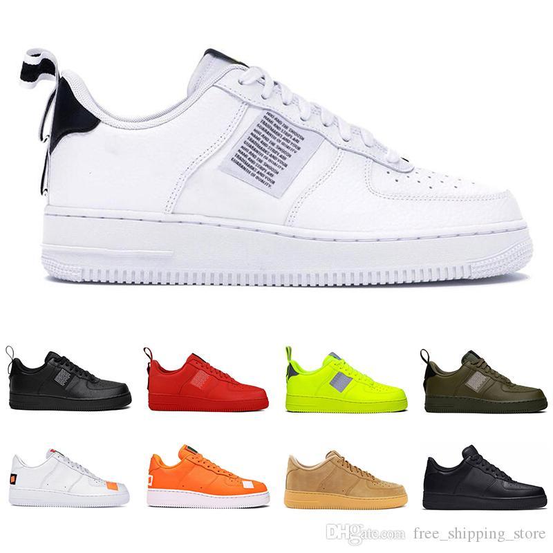 2019 hommes femmes mode plate-forme baskets top qualité utilité noir blanc volt rouge olive ont un jour mens chaussures de skate décontracté