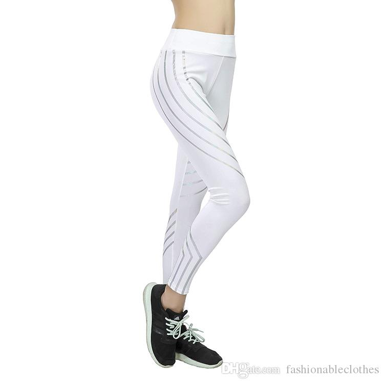 Euro-American gym Women's Fitness Yoga Pants for Cross-Border Fast Sale: Laser Printing, Body-building, Slimming and Sports Bottom Pants