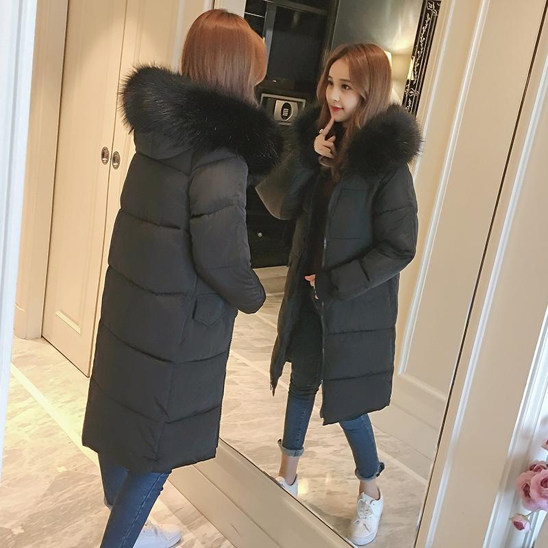 Hoodie de inverno mulheres jaqueta Plus Size Womens Parkas Thicken Casacos sólida com capuz casacos fêmea magro longo seção com capuz