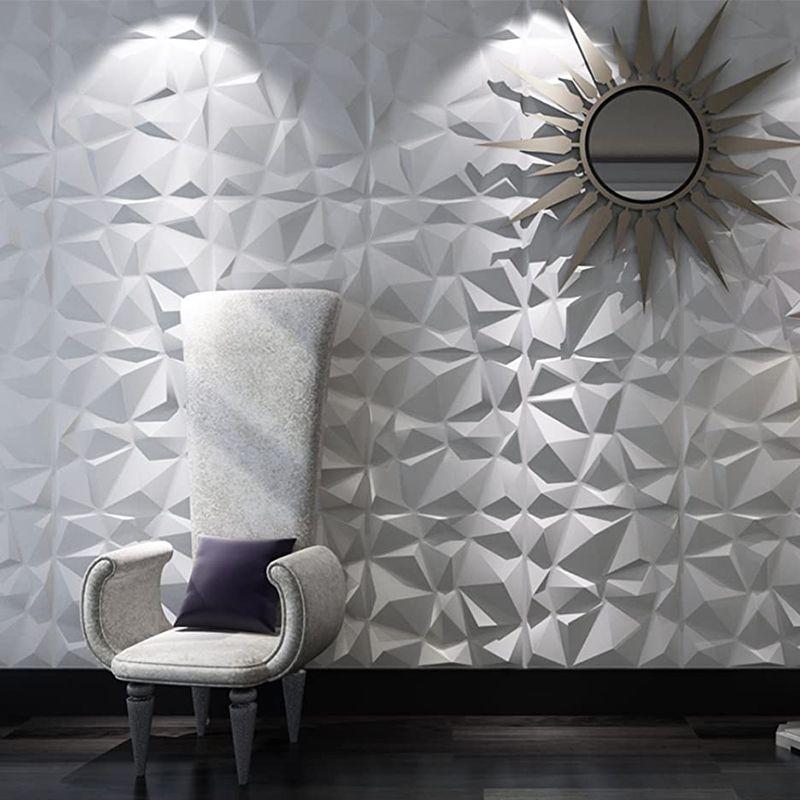 거실 주방 침실 욕실 화장실 세라믹 타일 홈 인테리어 파티를 커버하는 12 개 50cm 3D 벽 패널 벽 스티커