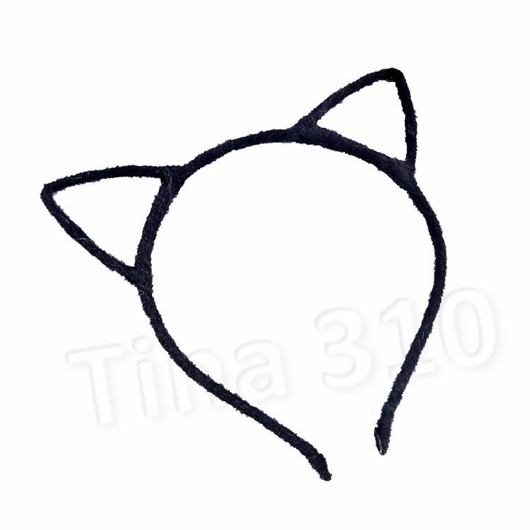 Las orejas de gato leopardo caliente del grano de la venda del pelo pista simple banda de lujo de Cosplay de la venda de Navidad aro del pelo del pelo JewelryT2C5166