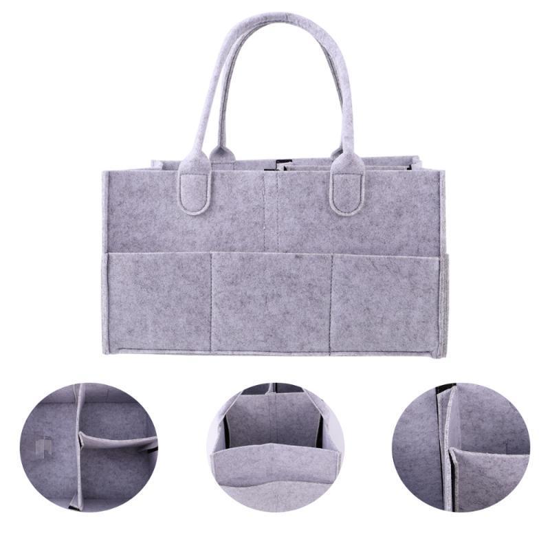 Organisateur Maman gris) (lumière etnoo couche feutre sac bébé sac portable fourre-tout panier de stockage de pépinière de caddie Havuj