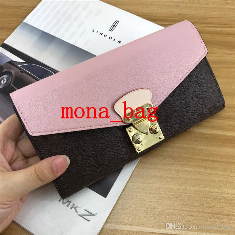 wallet female long clutch bag Korean version of the multi-function personality buckle devils hand holding more card holder wallet