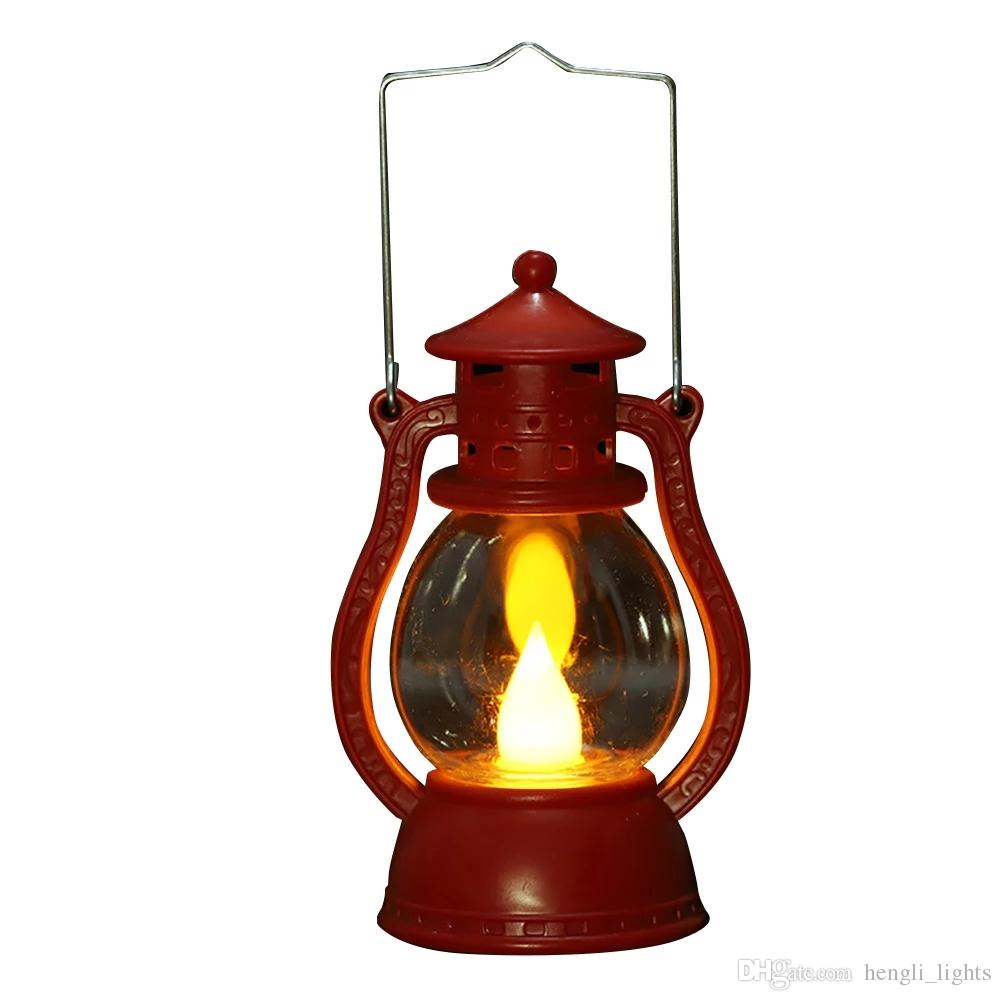 Flame Haunted House Portable Small Decorative Light Oil Lamp Led Festival Halloween Party Lightweight Scene JK0218A