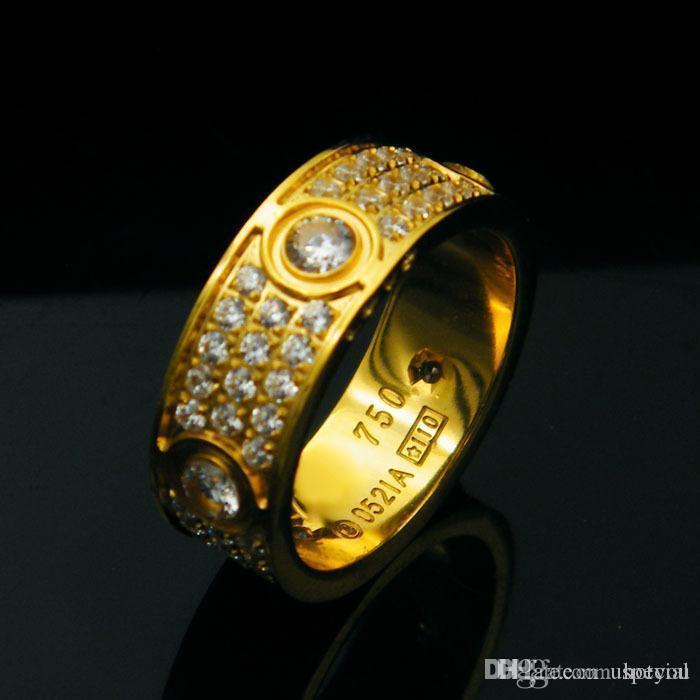 여성 남성 커플 ANEL 큐빅 지르코니아 결혼 반지 밴드 Bague 팜므을위한 다이아몬드 사랑 반지와 Hotyou 도매 티타늄 스틸 여섯 개 드릴