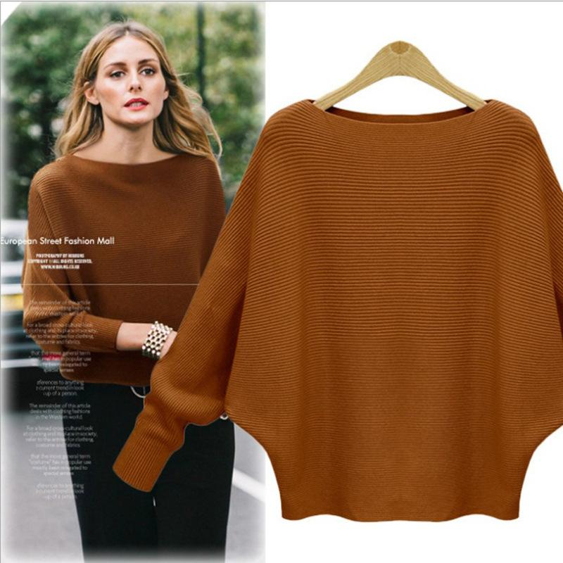 Bonjean Thick Knitted Tops Jumper Autumn Winter Casual Pullovers Sweaters Women Long Sleeve Big Loose Sweater Girls T200607