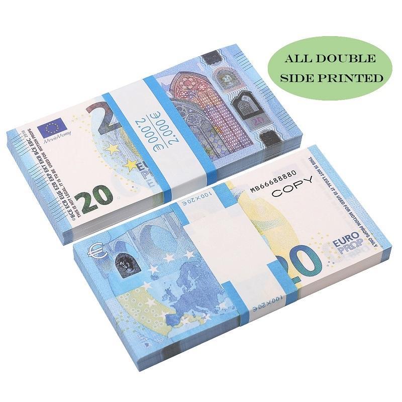 Top Quality Atacado Nightclub Bar Atmosphere Prop Prop Dinheiro Faux Billet 10 20 50 100 EURO FICIAL DINHEIRO DINHEIRO EURO 20 JOGAR DINHEIRO
