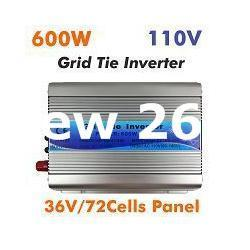 Freeshipping MPPT 600W Micro Grid Tie Inverter 30V 36V Panel 72 Cells MPPT Function Pure Sine Wave 110V Output on Grid Tie Inverter