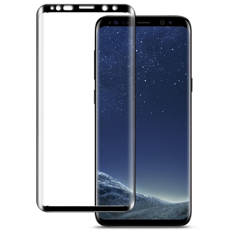 IMAK 9H 3D gekrümmte Oberflächen Full Screen gehärtetes Glas Film für Galaxy S9 +