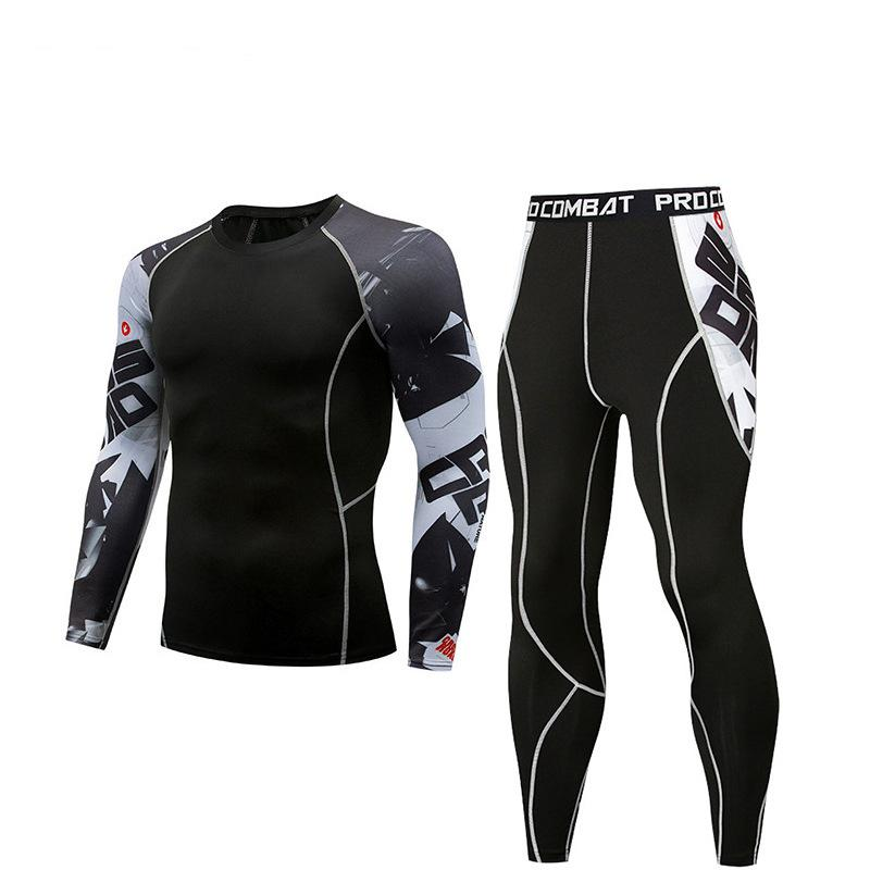 Sports tights men's suit long sleeve sports fitness quick-drying T-shirt quick-drying super elastic PRO fitness clothes