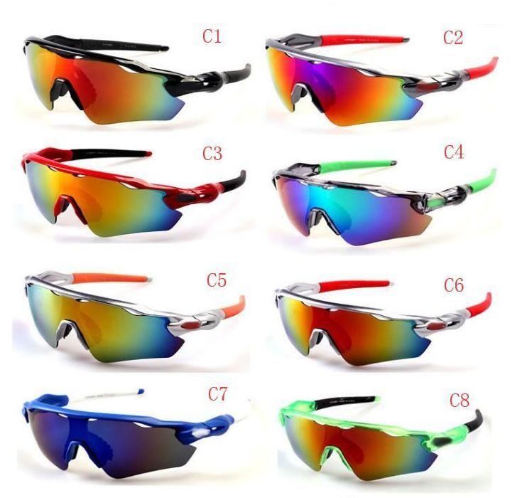 النظارات الشمسية الصيف العلامة التجارية الجديدة أزياء نظارات الشمس رجل الرياضة النظارات النساء النظارات دراجة زجاج السفر نظارات A ++ 10 ألوان