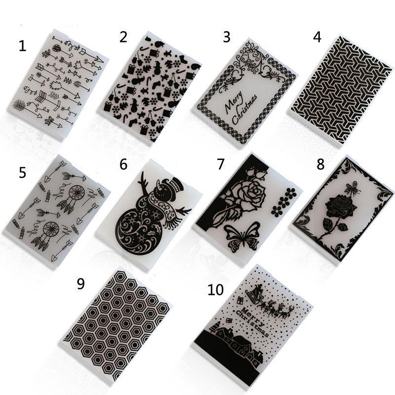 Bricolaje de plástico en relieve plantilla de carpeta Die Cutting álbum de recortes Tarjeta del álbum Crafts