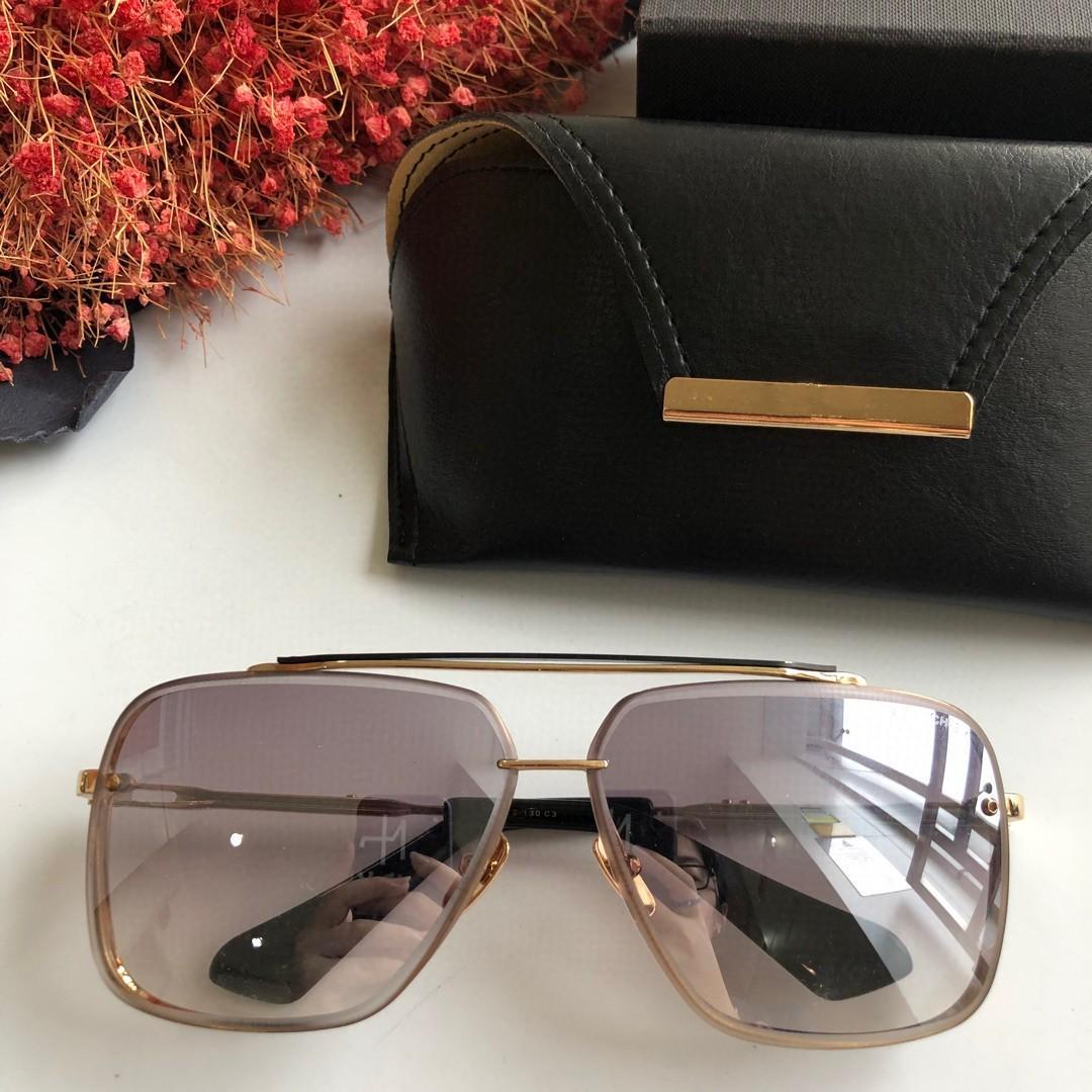Luxus-Sonnenbrille Mens-Sonnenbrille Frauen klassischer heiße Art Planke Metallrahmen sechs uv400 Schutz im Freien eyewear Top-Qualität mit Box