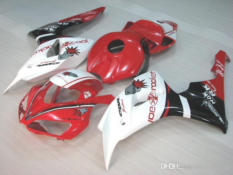 OEM Spritzgussverkleidung für Honda CBR1000RR 2006 2007 Rot Weiß Schwarz Verkleidungsset CBR 1000 RR 06 07 GS12