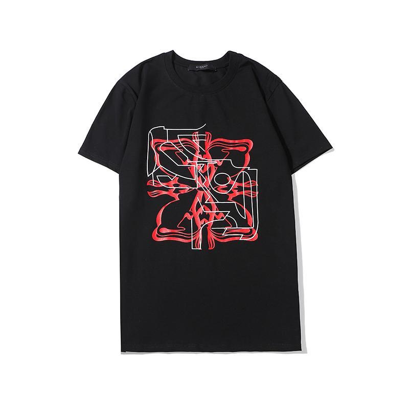 Mens de las camisas de lujo para hombre del verano de la manera camiseta de manga corta Mujeres top camisetas para hombre de Hip Hop de Calle 2020307K