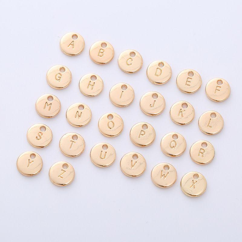 3sets / lot 26letter / set 금속 라운드 카드 DIY 쥬얼리 액세서리 팔찌 열쇠 고리 펜던트 목걸이 수제 재료 10mm
