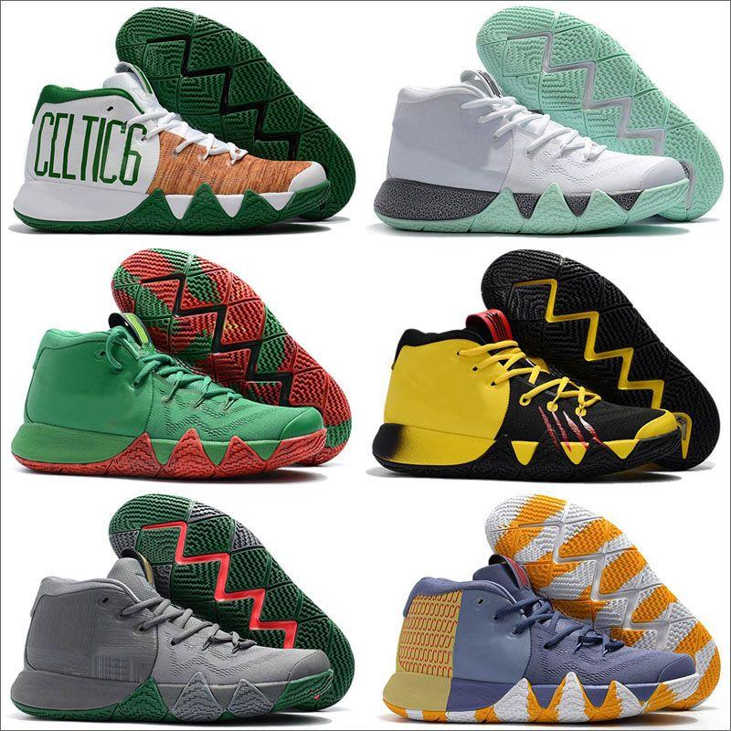 Падение 4 Баскетбола обуви для Mens Дешевой Продажи Кирия Спортивной обуви Wolf Gray Team Red Кроссовки Баскетбольной обувь дизайнерских кроссовок