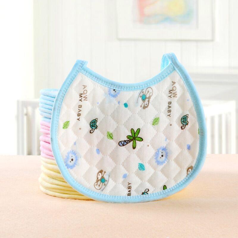 Nuova Neonata infantile Boy Bib kid bambino Cena alimentazione bavaglini impermeabile strato d'aria tovagliolo della saliva del fumetto stampato Bavaglino