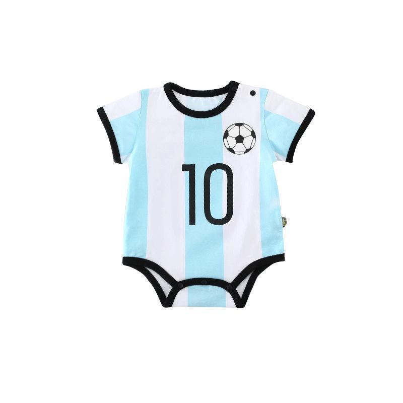 equipo de fútbol del fútbol del muchacho del bebé mameluco Número 0-2y recién nacidos Ropa para niños bebé para los muchachos del mono Niños bebés Conjuntos de ropa