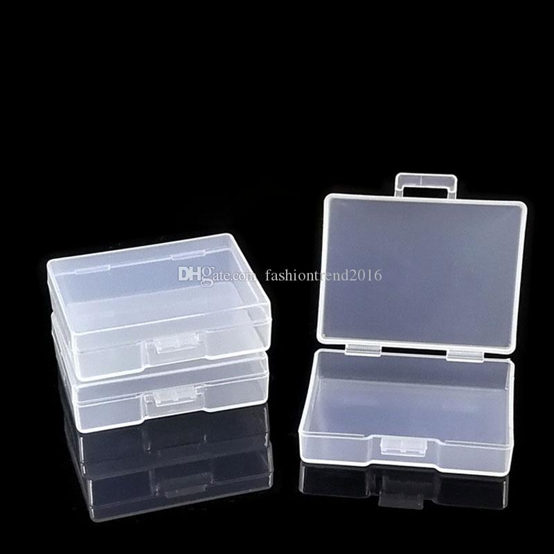 50PCS Mini Clear Plastic Small Box Jewelry Storage Container Bead Clear Case