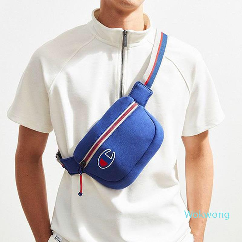Tide Brand Jogging Waist Bag for Men Women Fashion Logo Unisex Outdoor Bags Fashion Skateboarding Active Mini Bag