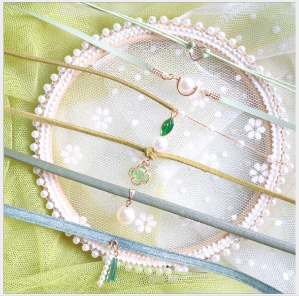 2020 mulheres dos homens colar de cristal jóias cadeia de pêssego rosa coração gargantilha clavícula curto pingente de folha verde CHOKER fita colar de rendas
