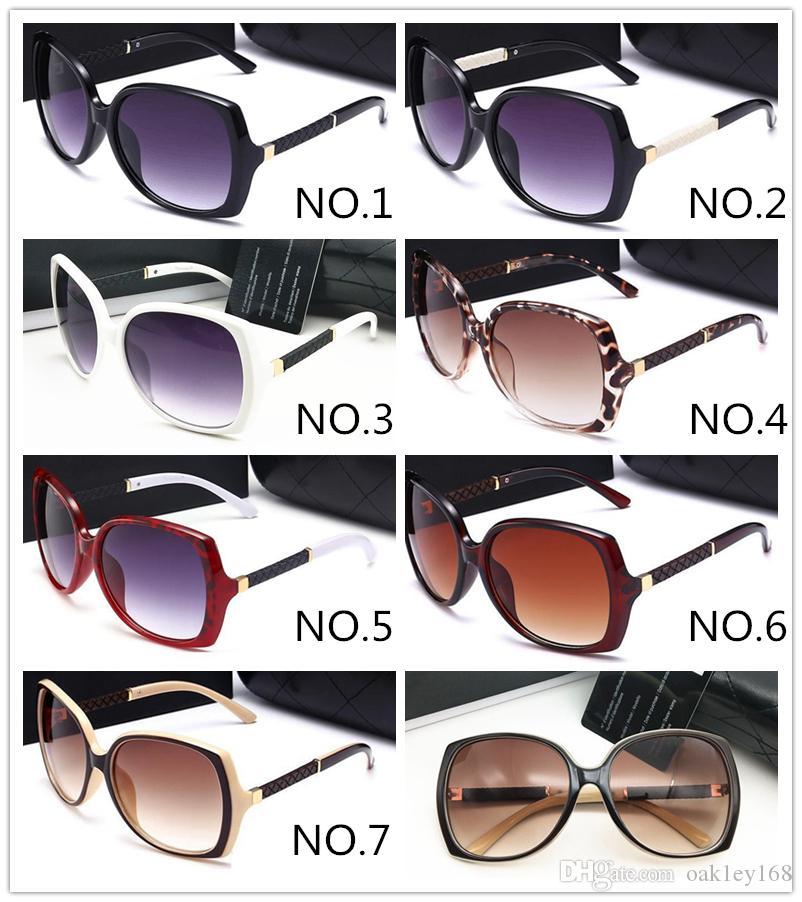 9110 النساء الفاخرة مصمم النظارات الشمسية أزياء ريترو الإطار الكبير الصيف السخي جودة عالية عدسة uv حماية