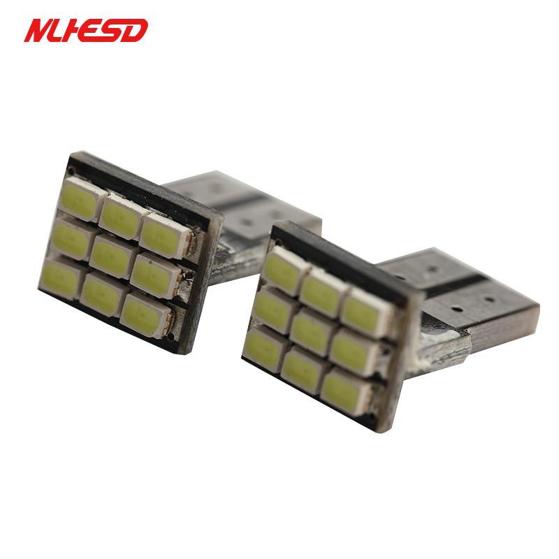 10pcs T10 LED-Keil-Glühlampe 9 SMD 1210 LED W5W 2825 158 192 168 Autoparklicht Auto-Armaturenbrett Anzeigeinstrument Lichter