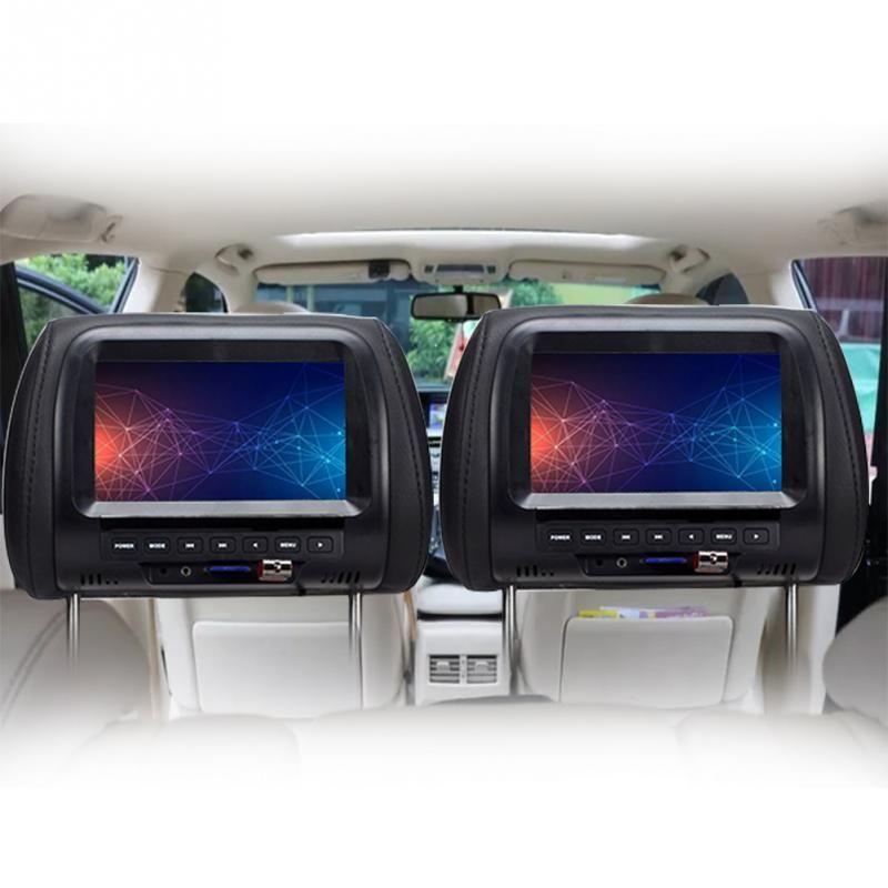 7 بوصة TFT LED شاشة سيارة شاشات MP5 لاعب مسند الشاشة دعم AV / USB / الوسائط المتعددة / FM / Speaker / Car DVD عرض الفيديو 720P