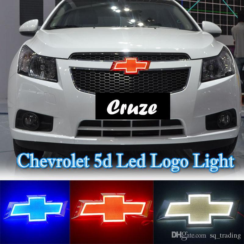 17 * 5,5 centimetri luce Car Emblem per Chevrolet Cruze Epica Badge Sticker LED luce 5D Emblemi luce