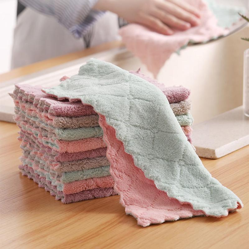 الأعمال المنزلية المتعددة الوظائف ذات الوجهين ، منشفة الطبق الممتص للماء غير عصا ممتصة للزيت