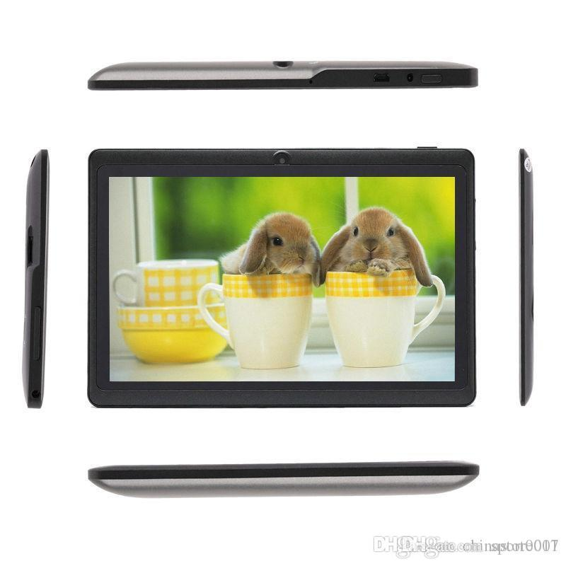 Q88 7 Inch Android 4.4 Tablet PC ALLwinner Cheap A33 Quade Core Dual Camera 8GB ROM 1GB RAM Capacitive Tablets