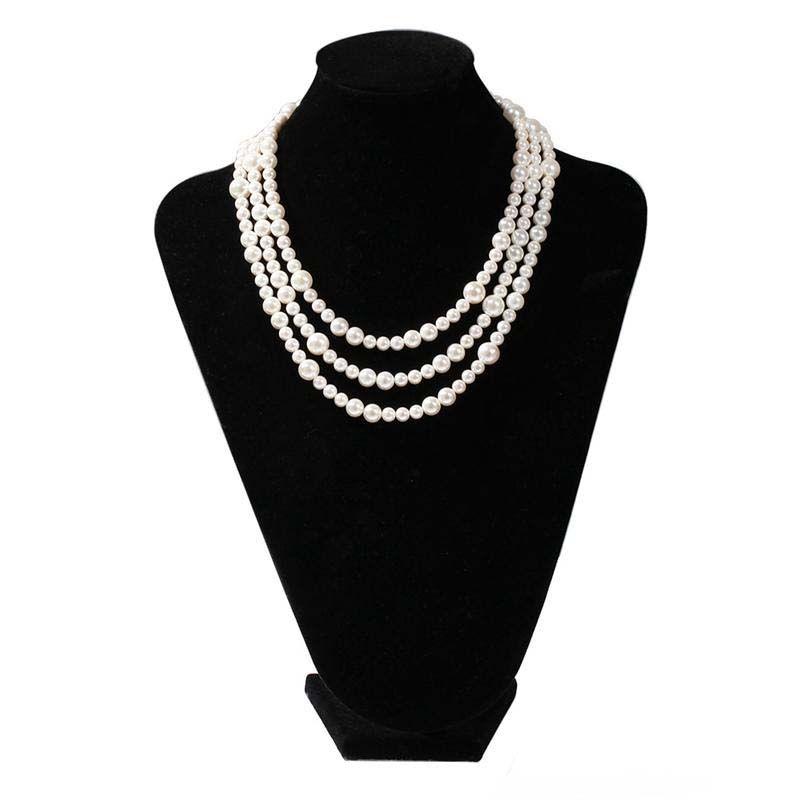 Unisexe Hommes Femmes Collier 6 mm 8 mm 10 mm collier de perles de la chaîne pour hommes femmes Hip Hop Bijoux cadeau pour un ami