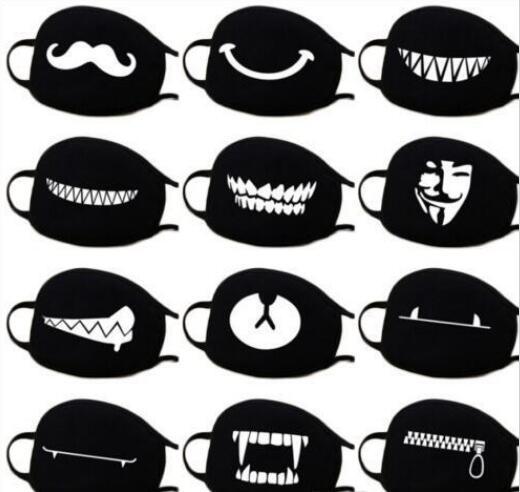 Cotone antipolvere Bocca maschera di protezione del fumetto del Anime fortunato dell'orso delle donne degli uomini a muffola Viso Bocca Maschere 50pcs sacco GB887 /