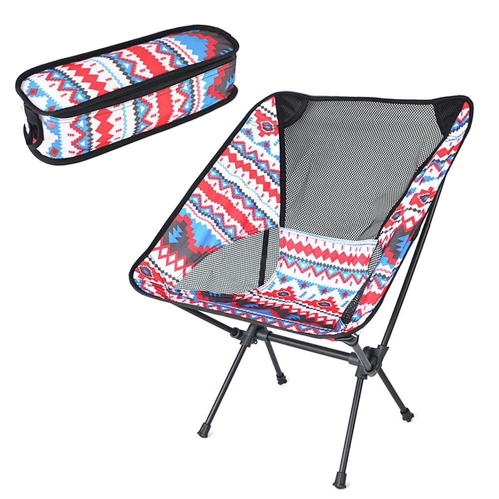Ultraleve ao ar livre cadeira dobrável portátil com bolsa de transporte para Camping Mochila Caminhadas piquenique na praia