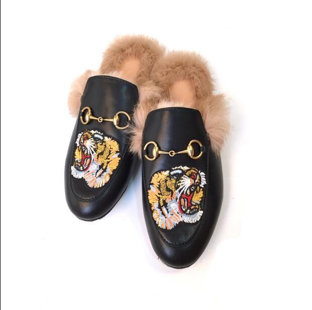 2019 Новый Фокс волос пляж тапочки мягкий мех шлепанцы слайды обувь пушистые тапочки Ева дно крытый и открытый тапочки обувь
