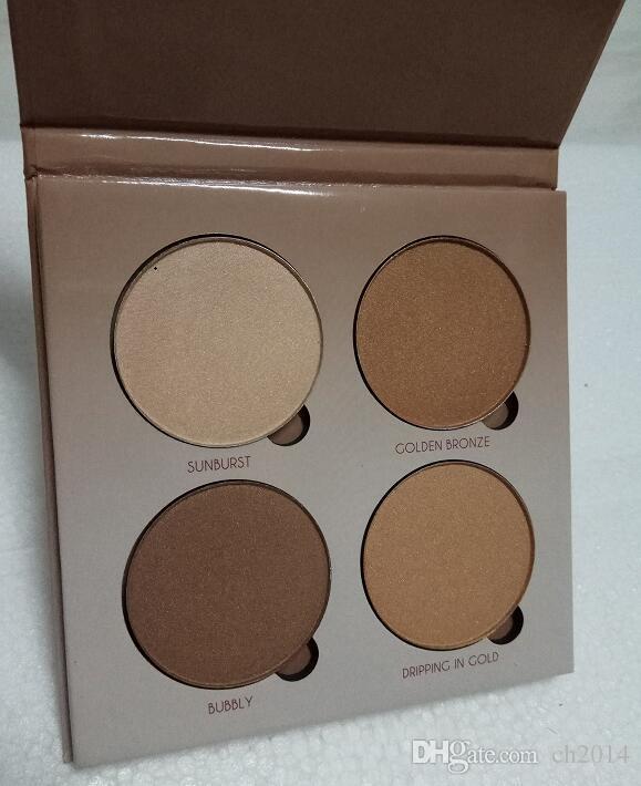 Em estoque! De alta qualidade! Make up Bronzers Marcador maquiagem 4 cores de sombra transporte Face Powder Blush Palette DHL grátis sombra de olho