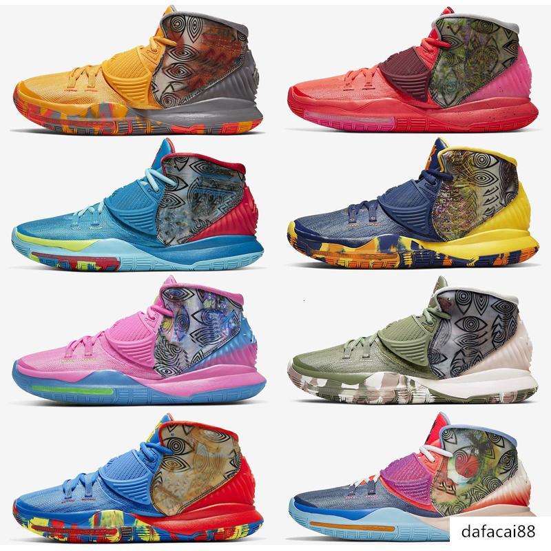 2020 nuevos zapatos de Kyrie 6 de precalentamiento Shanghai de baloncesto del Mens Irving 6 Houston sanar a los diseñadores Mundial de las zapatillas de deporte 40-46