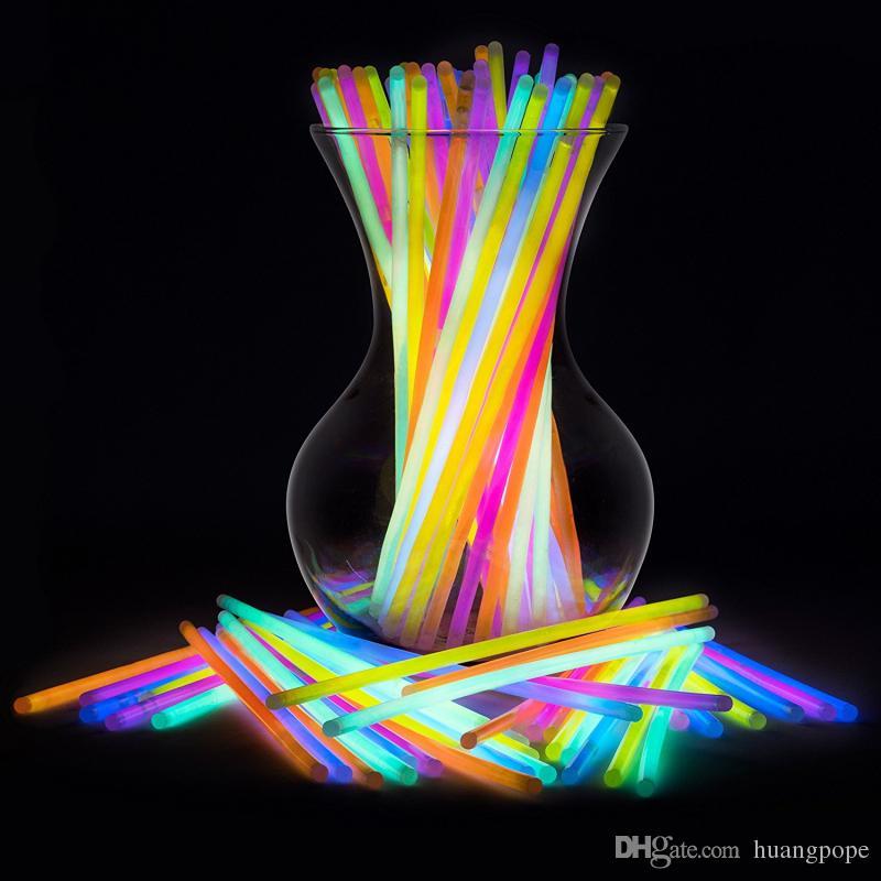 Multi Color Glow Sticks Bracelets Necklaces Fluorescent Light