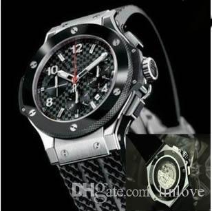 Мода розовое золото Серебро каучуковый ремешок autoamtic движение Механическое алмаз мужчин платье мужская стекла назад мужчины часы Black Наручные часы