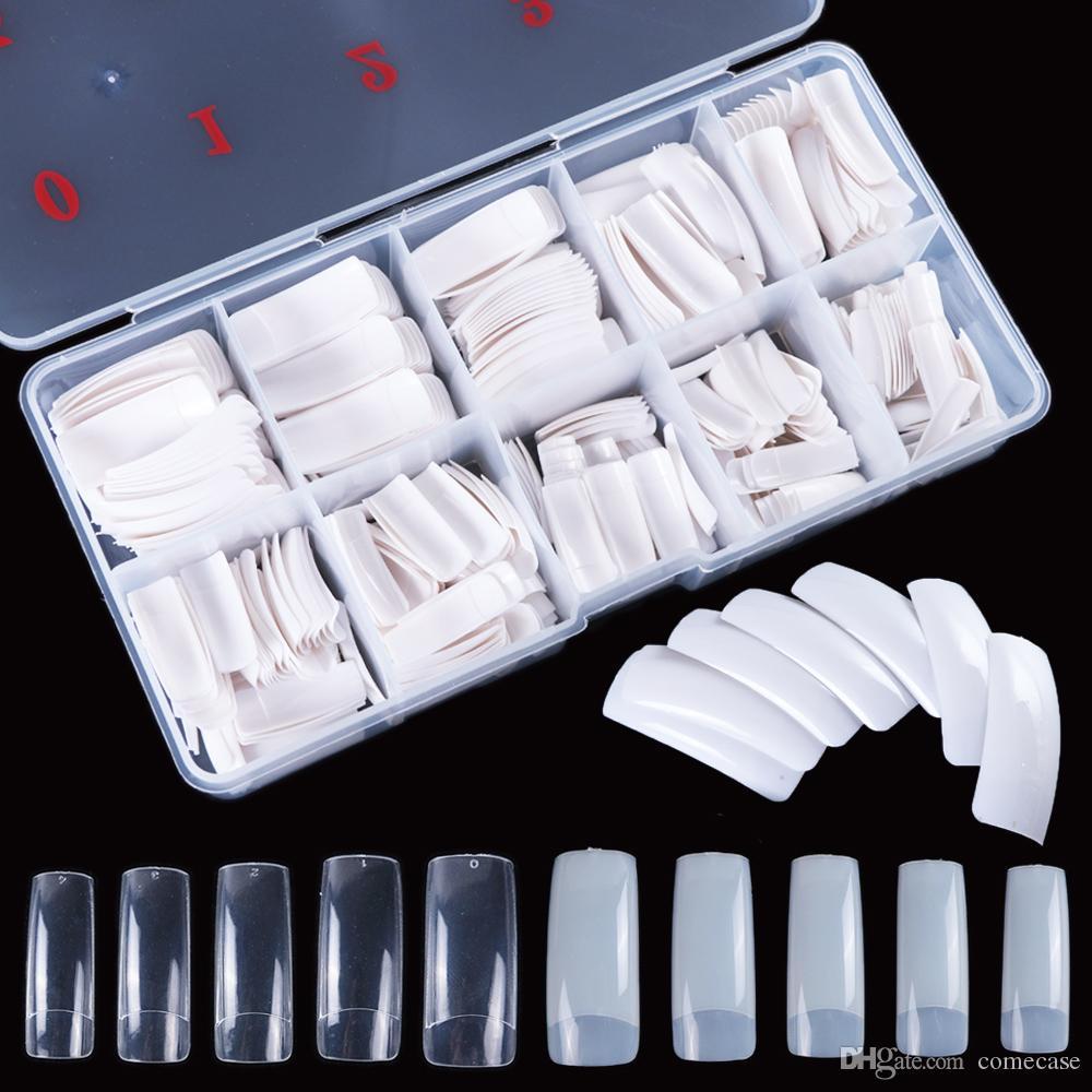 1000pcs falso Nail Nails Natura staccabile completa di punte artificiali francese Chiodi falsi stampo per l'arte di estensione del manicure del chiodo Una