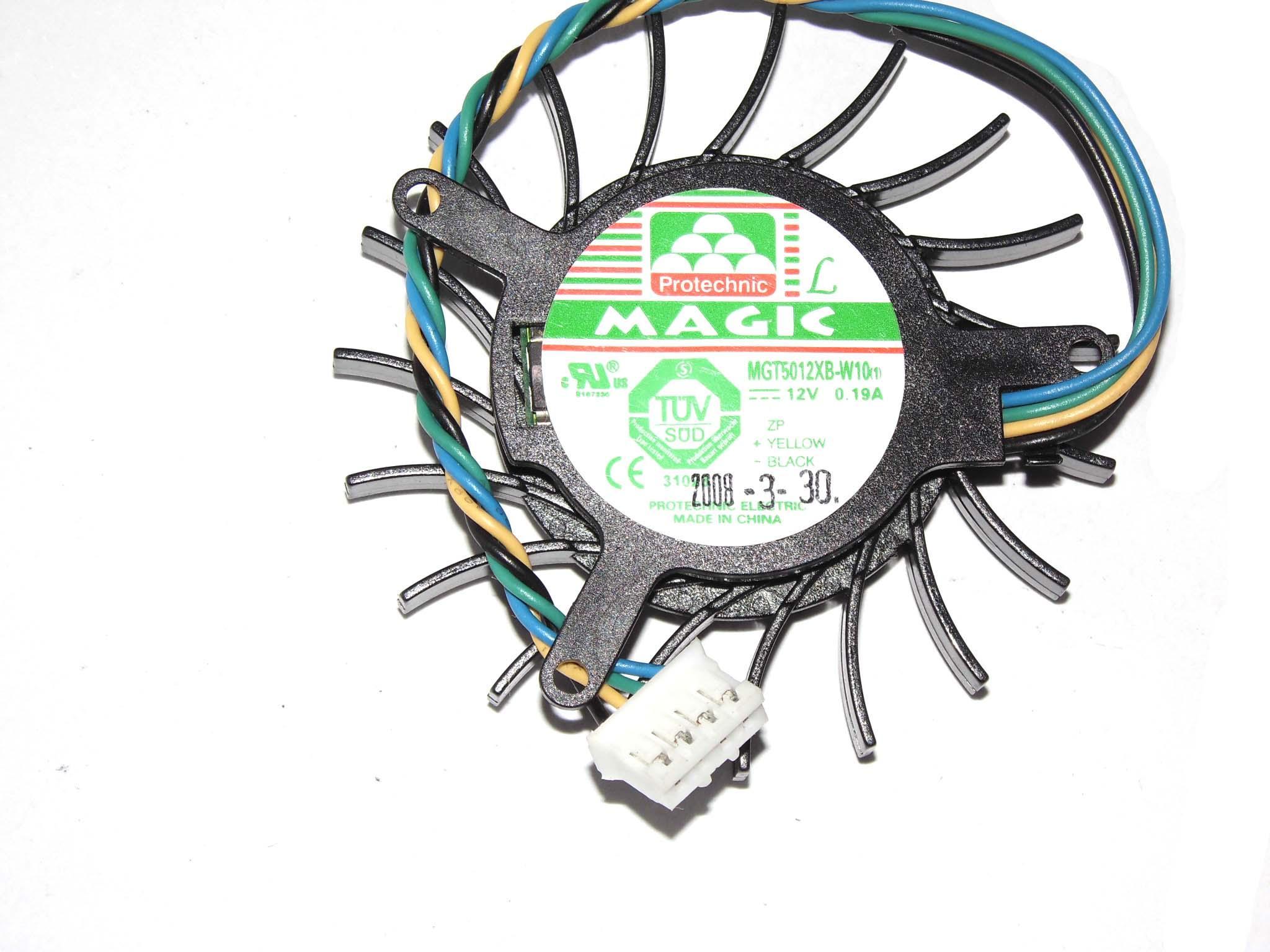 매직 MGT5012XB-W10 비디오 카드를 들어 12V 0.19A로 19 블레이드를 4 와이어를 냉각 팬