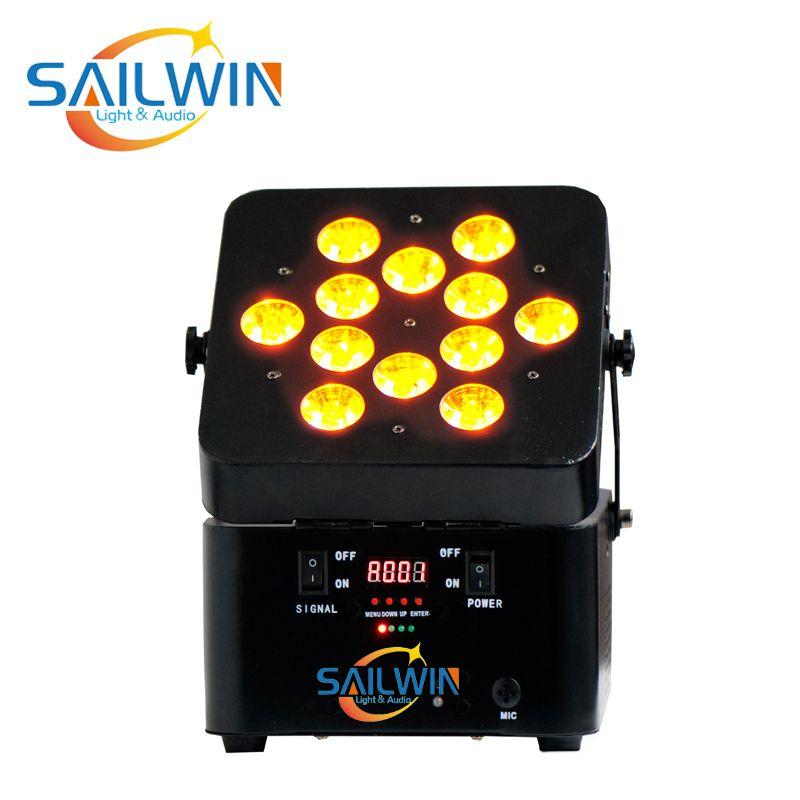 CHINA SAILWIN 6en1 RGBAW + UV V12 Batería Construido en el Par LED inalámbrico puede utilizar para el evento ESTUDIO