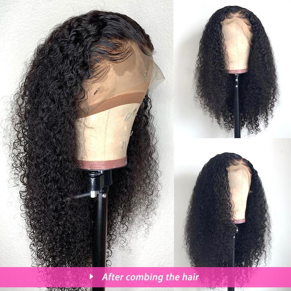 깊은 웨이브 가발 (360) 레이스 정면 가발 사전 블랙 여성들 아기 헤어 180퍼센트 밀도 곱슬 인간의 머리 가발로 뽑아