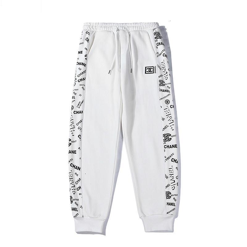 Pantalones de chándal para hombres Patrón de letras salvajes cómodos pantalones transpirables Tallas de vigas sueltas de moda M-2XL