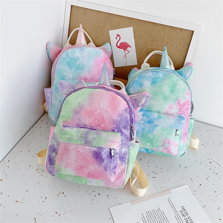 유니콘 배낭 만화 야외 스포츠 다채로운 배낭 여행 학교 물건과 가방 학생 소녀 스토리지 가방 도매 ZJY706 장식 조각 3 색