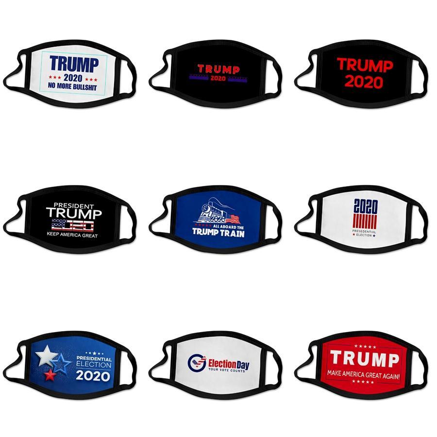 Atacado Designer Trump Máscara Facial Máscara protectora Adulto Ice seda fina frescos Máscaras podem ser lavados Seção Máscaras Hanging orelha protetor solar Dustproof # 507