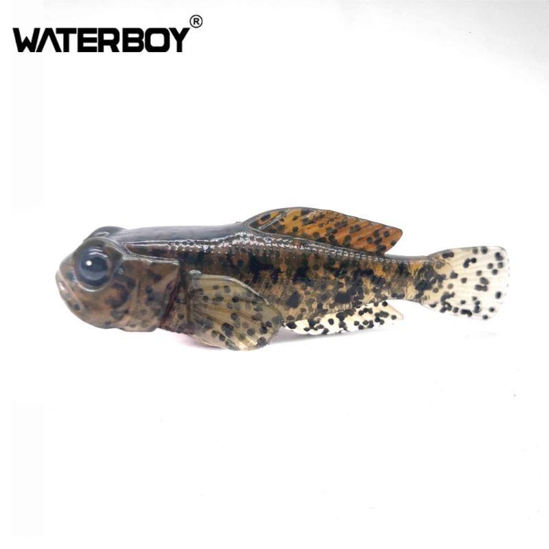 Дешевые 75мм бычок Paddle 9,3 г Tail Мягкая Swimbait 0.33oz 3inch Рыба приманки Finest Подробная Softbait мягкой рыболовную приманку