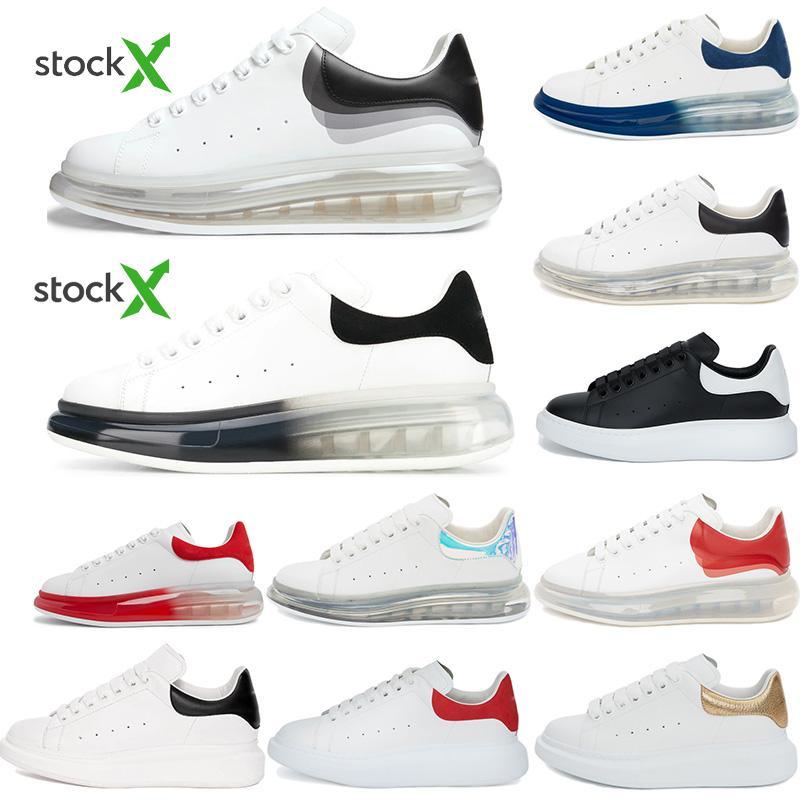 2020 Nuovo Top Quality scarpe casuali del cuoio delle donne di modo del Mens Lace Up Grigio Nero Blu Rosso Velet Piattaforma Oversized Sole Sneakers con la scatola
